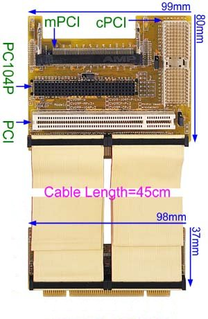 cPCI to PCI Adapter - Cable